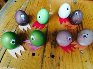 Eggcellent Easter one-eyed little monsters