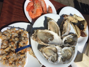 And a seafood feast in nearby Leigh on Sea