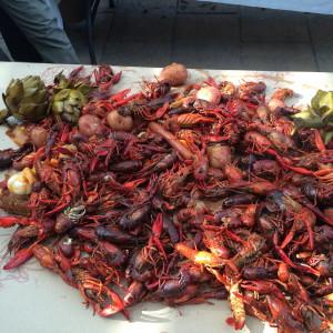 The incredible crawfish boil!