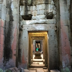 The stunning colours of the Preah Khan temple at Angkor