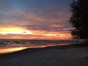 The sky alight. Otres Beach