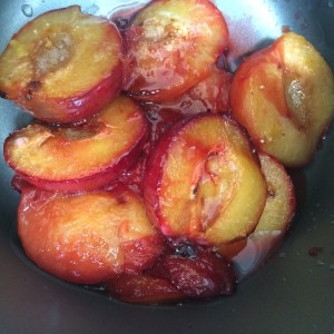 cooked plums fruit